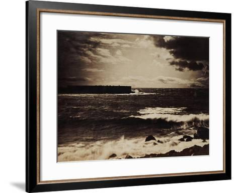 The Great Wave, Sete, 1856-9-Gustave Le Gray-Framed Art Print