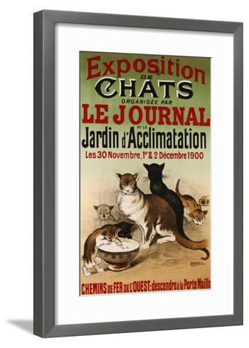 Exposition de Chats, 1900- Roedel-Framed Art Print