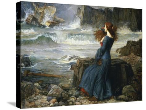 Miranda, the Tempest, 1916-John William Waterhouse-Stretched Canvas Print