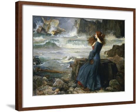 Miranda, the Tempest, 1916-John William Waterhouse-Framed Art Print
