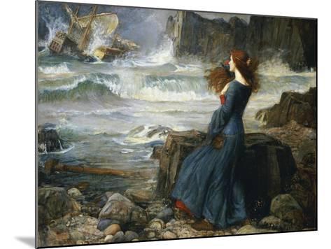 Miranda, the Tempest, 1916-John William Waterhouse-Mounted Giclee Print
