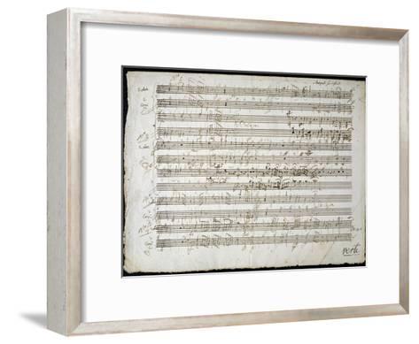 Sheet Music by Mozart: Six Contre Danses--Framed Art Print