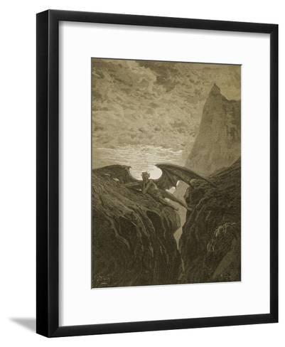 Satan Resting on the Mountain-Gustave Dor?-Framed Art Print