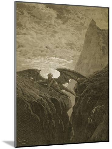 Satan Resting on the Mountain-Gustave Dor?-Mounted Giclee Print