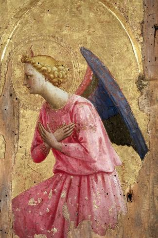 Adoration of an Angel-Fra Angelico-Stretched Canvas Print