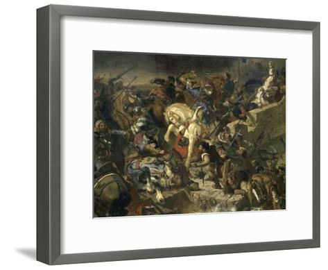 La Bataille de Taillebourg-Eugene Delacroix-Framed Art Print