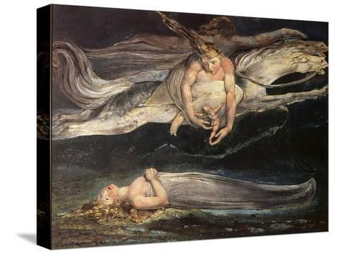 Divine Comedy: Pity-William Blake-Stretched Canvas Print
