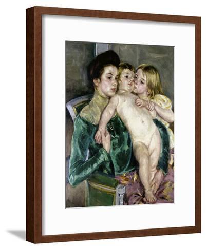 Child's Caress-Mary Cassatt-Framed Art Print