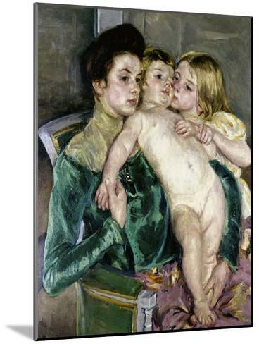 Child's Caress-Mary Cassatt-Mounted Giclee Print