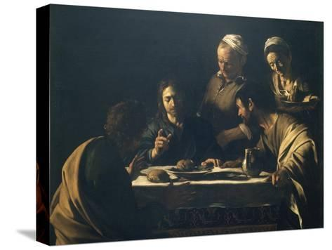 Supper at Emmaus-Caravaggio-Stretched Canvas Print