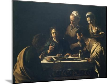 Supper at Emmaus-Caravaggio-Mounted Giclee Print