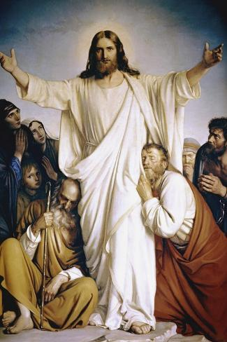 Christ the Consoler-Carl Bloch-Stretched Canvas Print