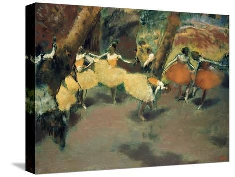 Before the Performance-Edgar Degas-Stretched Canvas Print
