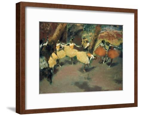 Before the Performance-Edgar Degas-Framed Art Print