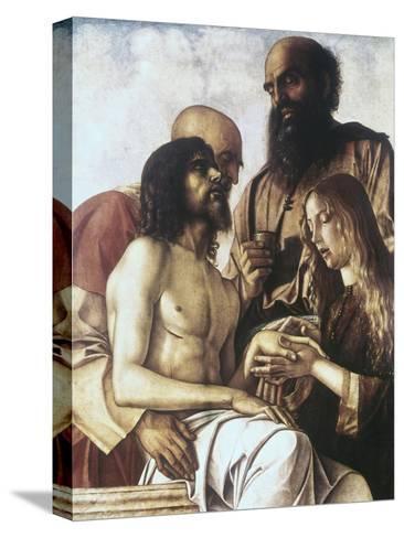 Lament over the Dead Christ-Giovanni Bellini-Stretched Canvas Print