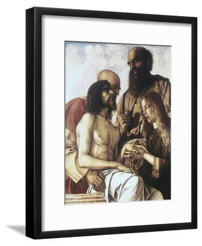 Lament over the Dead Christ-Giovanni Bellini-Framed Art Print