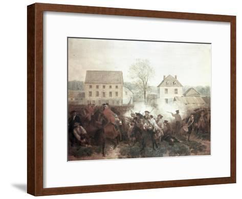 The Battle of Lexington-Alonzo Chappel-Framed Art Print