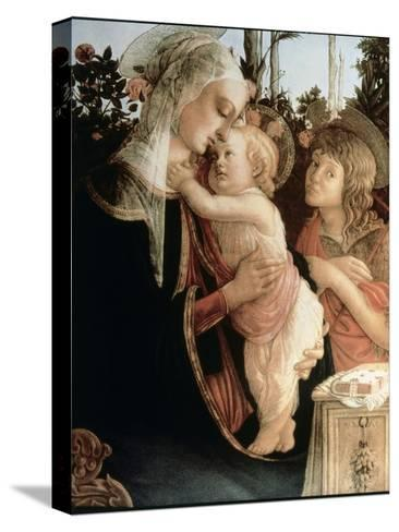 Madonna of the Rosegarden No.2 (with St. John Baptist)-Sandro Botticelli-Stretched Canvas Print