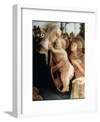 Madonna of the Rosegarden No.2 (with St. John Baptist)-Sandro Botticelli-Framed Art Print