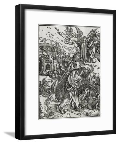 The New Jerusalem and the Bottomless Pit-Albrecht D?rer-Framed Art Print
