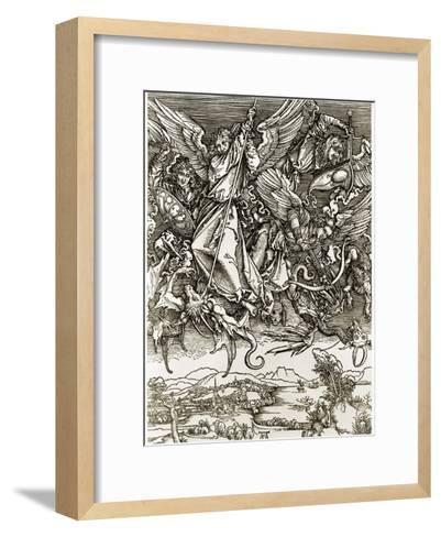 St. Michael Fighting the Dragon-Albrecht D?rer-Framed Art Print