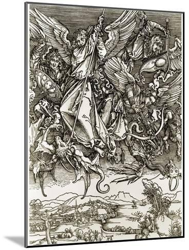 St. Michael Fighting the Dragon-Albrecht D?rer-Mounted Giclee Print