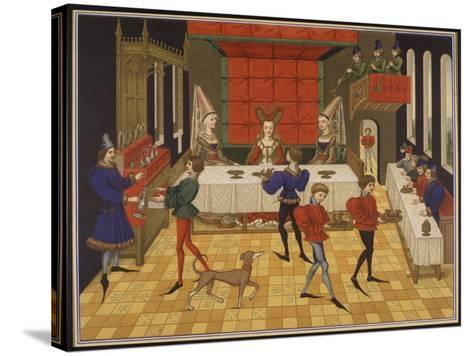 Dinner Served for the Lady of the House-15th C--Stretched Canvas Print