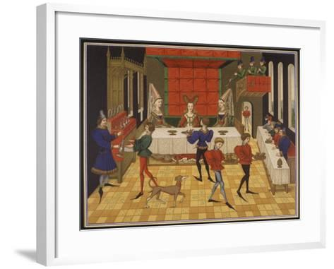 Dinner Served for the Lady of the House-15th C--Framed Art Print