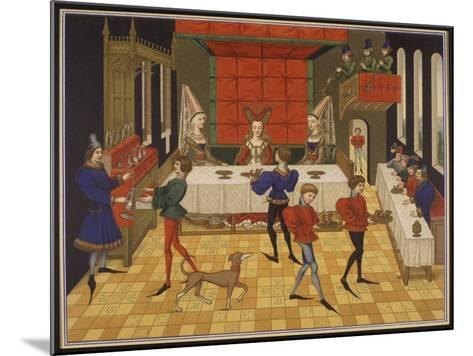 Dinner Served for the Lady of the House-15th C--Mounted Giclee Print
