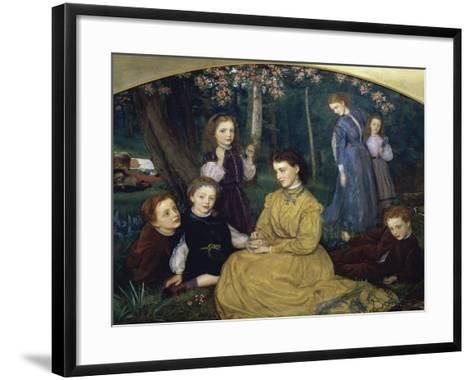 A Birthday Picnic-Arthur Hughes-Framed Art Print