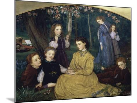A Birthday Picnic-Arthur Hughes-Mounted Giclee Print