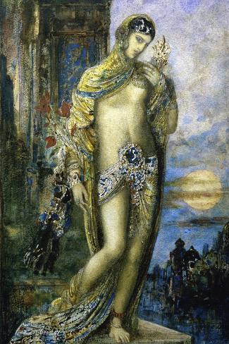 Le Cantique Des Cantiques-Gustave Moreau-Stretched Canvas Print