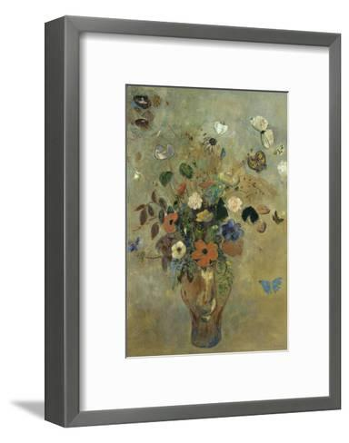 Bouquet of Flowers with Butterflies Brushstroked Canvas by Odilon ...