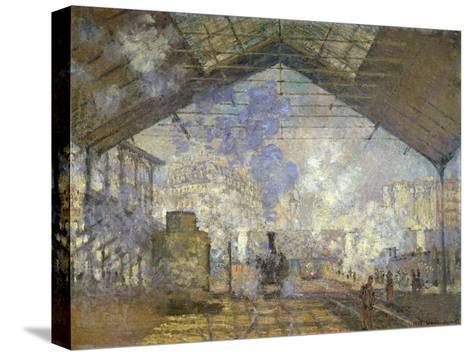 St. Lazare Station-Claude Monet-Stretched Canvas Print