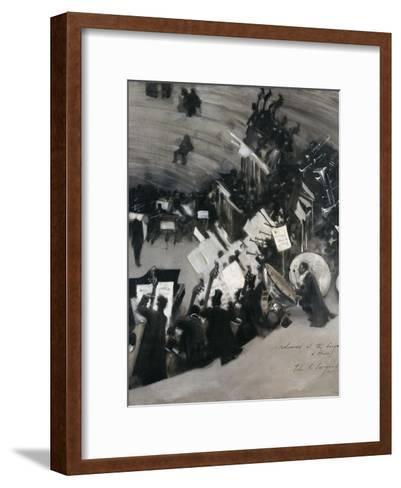 Rehearsal of the Pasdeloupe Orchestra-John Singer Sargent-Framed Art Print