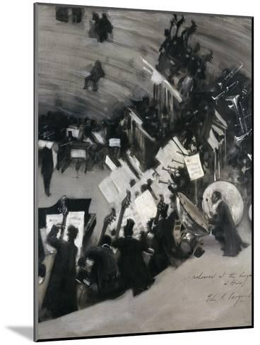 Rehearsal of the Pasdeloupe Orchestra-John Singer Sargent-Mounted Giclee Print