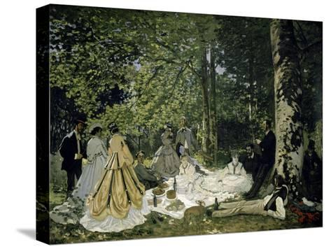 The Picnic-Claude Monet-Stretched Canvas Print