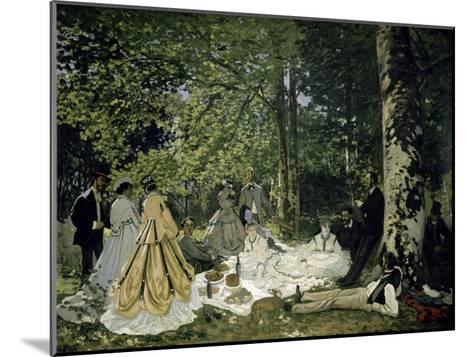 The Picnic-Claude Monet-Mounted Giclee Print