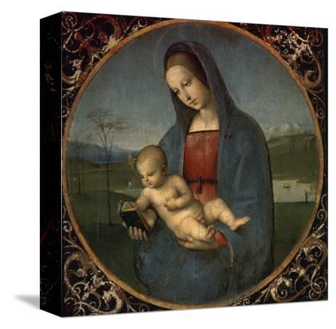 Madonna and Child (Conestabile Madonna)-Raphael-Stretched Canvas Print