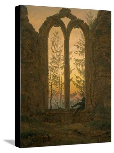 A Dreamer-Caspar David Friedrich-Stretched Canvas Print