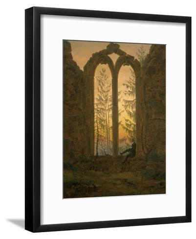 A Dreamer-Caspar David Friedrich-Framed Art Print