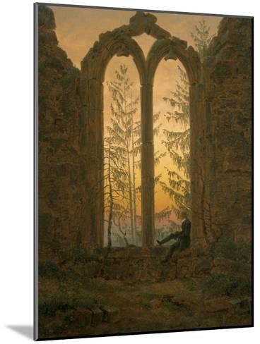 A Dreamer-Caspar David Friedrich-Mounted Giclee Print
