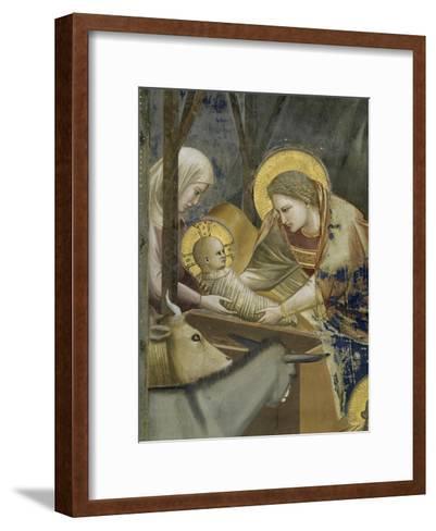 The, Detail Nativity-Giotto di Bondone-Framed Art Print