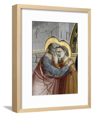 Meeting at the Golden Gate, Detail-Giotto di Bondone-Framed Art Print