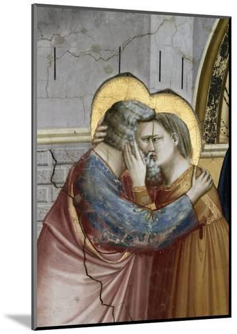 Meeting at the Golden Gate, Detail-Giotto di Bondone-Mounted Giclee Print