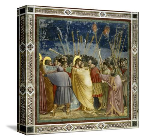 The Betrayal of Christ-Giotto di Bondone-Stretched Canvas Print