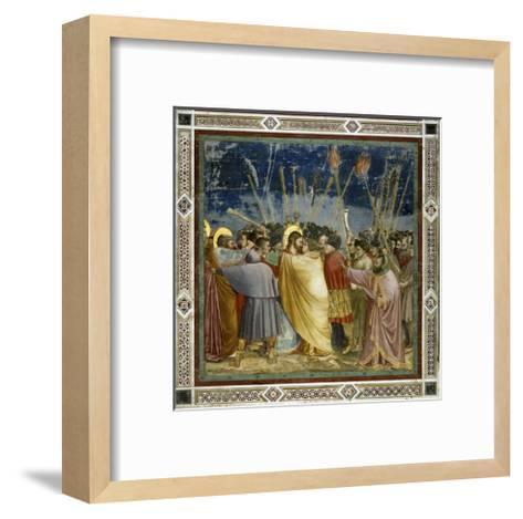 The Betrayal of Christ-Giotto di Bondone-Framed Art Print