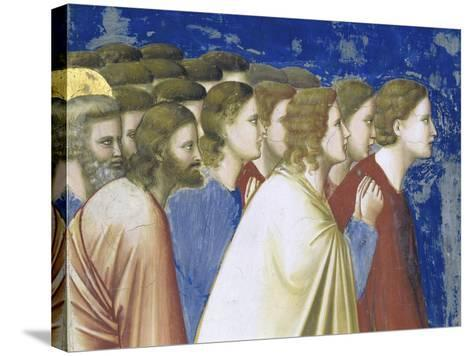 The Suitors' Prayer Before the Rods,, Detail-Giotto di Bondone-Stretched Canvas Print