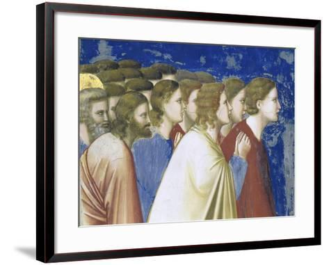 The Suitors' Prayer Before the Rods,, Detail-Giotto di Bondone-Framed Art Print