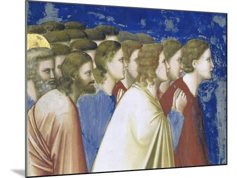 The Suitors' Prayer Before the Rods,, Detail-Giotto di Bondone-Mounted Giclee Print